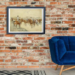 Frederic Remington - A Call To Arms Wall Art Poster Print