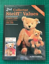 2nd Collector Steiff Values Price Guide Book 1980-1990 Ltd Edition Bears M1179