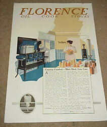 1919 Magazine Ad === Central Oil And Gas Stove Co - Florence Oil Cook Stoves
