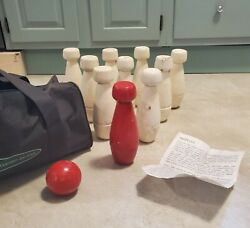 Vintage Skittles Nuclear Bomb Shaped Lawn Garden Game Bowling Set - Ultra Rare
