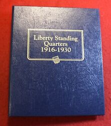 1916-1930 Standing Liberty Quarters In New Whitman Album 26 Coins Sl17