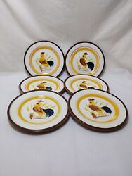 Stangl Pottery Rare Country Life 6 Bread And Butter Plates 61/4 In.good Condition