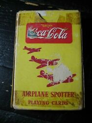Coca-cola Airplane Spotter Playing Cards - Womens Volunteer Svc - Full Set W/box