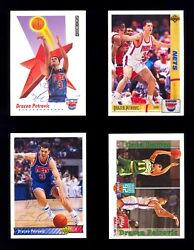 4 Different Drazen Petrovic Ballpoint Pen Autographed Cards Obtained In Person