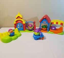 2003 Weeble Wobble 5 Figures Playset And Accessories Playground Tricycle Garden...