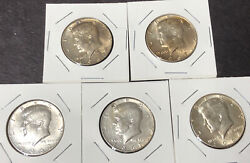1/4 Roll Of 5 1967 Silver Kennedy Half Dollars Receive Pictured 2.50 Fv 39