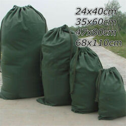 1 Pc Canvas Drawstring Large Bag Pouch Clothes Craft Storage Laundry Army