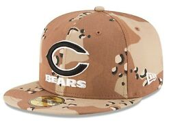 Chicago Bears Ball Cap Hatnew Era 59fifty Basic Camo Popnflfitted Size 7