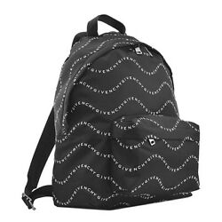 GIVENCHY Backpack GIVENCHY WAVES PRINTED BACKPACK IN NYLON BK500J BLACK WHITE $1091.09