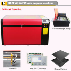 Hl Laser 100w 1060 Co2 Laser Cutting Wood Acrylic Cw5200 Chiller Us Local Pickup