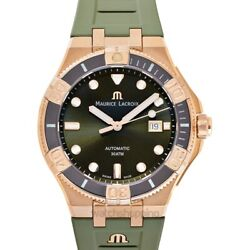 Maurice Lacroix Aikon Ai6058-brz01-630-1 Green Dial Menand039s Watch Genuine