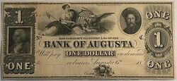 Obsolete Currency 18xx Bank Of Augusta Ga 2110 Remainder. High Quality. Some