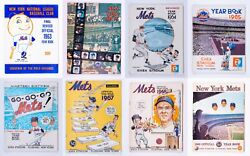 1963 - 1970 New York Mets Yearbook Lot - Mr. Met Gil Hodges Championship Year