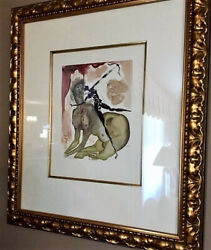 Salvador Dali Divine Comedy Inferno Canto Minotaur Framed And Signed In The Block