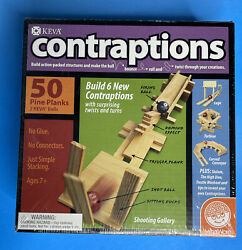 Contraptions 50 Plank And 2 Ball Set By Keva -new/ Sealed
