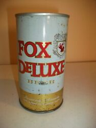 Fox Deluxe Beer Can - Straight Steel - Bottom Opened - Pull Tab