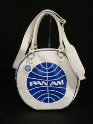 Vintage Retro 1950and039s Pan Am Airline Orion Flight Travel Bag