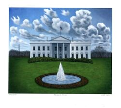 The White House Limited Edition Pigment Print Scott Kahn - Signed
