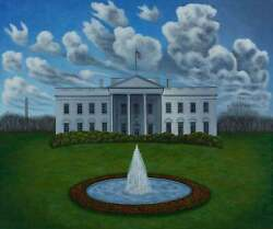 The White House, Limited Edition Pigment Print, Scott Kahn - Signed