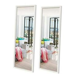 14x48 inch Full Length Mirrors Wall Mounted Rectangular White Framed Wall Mirro