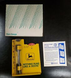 Vintage 1970and039s John Deere Rain Gauge And Recorder New In Box Nib Obm-475 Old Logo