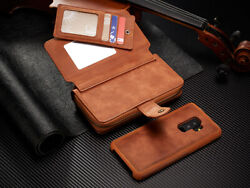 For Samsung S20 S9+ Note20 Ultra + Leather Wallet Flip Magnetic Back Cover Case