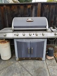 Stainless Steel Propane Gas Grill. Used Brinkmann Grill For Sale.