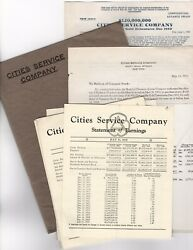 11 Pc Lot 1930 Cities Service Co Citgo Oil And Subsidiaries Stock Reports Earnings