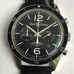 Bell Ross Br 126 42 Mm Automatic Pilot Watch Letaher Strap