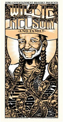 Willie Nelson Concert Gig Poster 2002 Athens, Ga - New