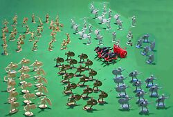 Rome Vs Carthage Playset - 54mm Unpainted Plastic Toy Soldiers And Accessories