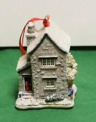Lilliput Lane Christmas Ornament Fir Tree Cottage Mint In Box With Deed