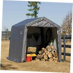 10and039 X 10and039 Shed-in-a-box All Season Steel Metal Peak Roof Outdoor Storage Shed W