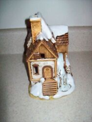 Rare 1990 Lefton Colonial Village Water Mill House Byron Wood Christmas 3115