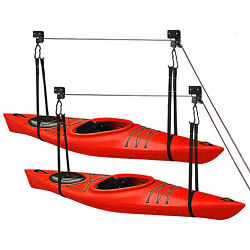 Great Working Tools Kayak Hoist Lift 2 Pulley System - 2-pack Ceiling Mount