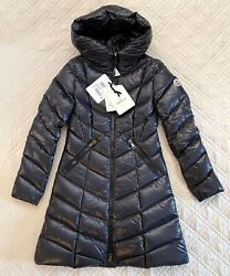 Moncler Marus Hooded Down Coat Navy Size Tg1 Nwt