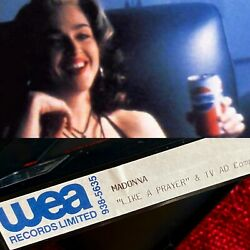 Madonna Pulled Pepsi Commercial Promo Wea Warner Music Tape Video Like A Prayer
