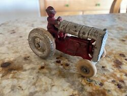Vintage Arcade Fordson Cast Iron Tractor With Driver - Arcade Toy