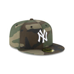 New York Yankees MLB Authentic New Era Woodland Camo 59FIFTY Fitted Hat Camo