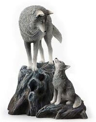 9.5 Guidance By Lisa Parker Statue Sculpture Wolf Wolves Puppy Fantasy