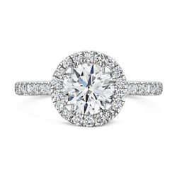 Real 0.80 Ct Round Diamond Engagement Ring For Women 14k White Gold Size 6 7 8