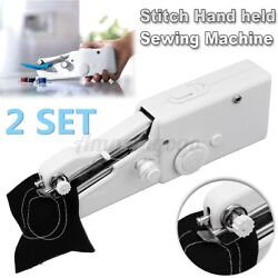 2x Hand Held Home Sewing Machine Portable Single Stitch Sew Quick Handy Cordless