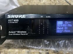 Shure Axt400 Wireless Receiver Only For Ur2 Ur1 Axt200 And Axt100 G1 470-530