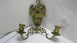 Colonial Vintage Brass Eagle Wall Sconce Dual Arms 1360
