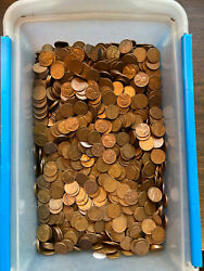 Lincoln Wheat Cent Bag, All 1955-s, 5,000 Coins, Nice High Grade Coins