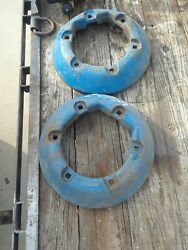 Vintage Ford Tractor Rear Wheel Weights Fomoco Pair, Set