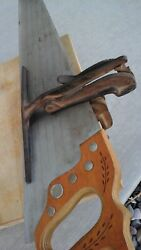 Antique Saw Blade Sharpener 1896, Vice Clamp To Bench, Sharpens Hand Saws Cast