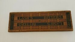 Antique Cribbage Board Lashand039s Bitters 1893 Cures Dyspepsia Indigestion Malaria +