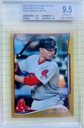 2014 Topps Chrome Update Gold Refractor Mookie Betts Rc Bgs 9.5 /250 Us-20