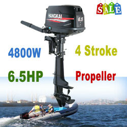 Hangkai Outboard Engine 6.5 Hp 4stroke Fishing Boat Motor Water Cooling Cdi Syst